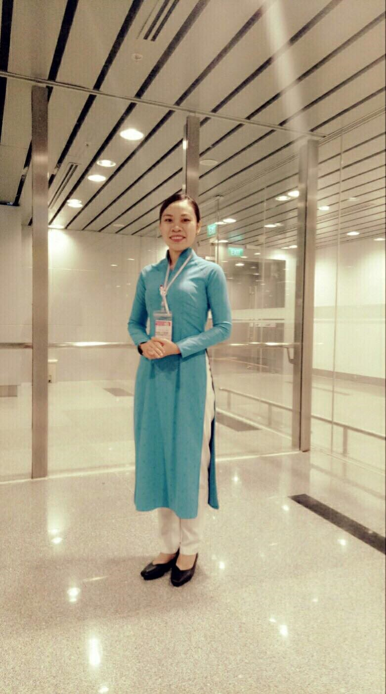 The sharing of Alumni Le Thi Kim Ngan 13CVL_Is working in the technical department of Vietnam Airlines, Da Nang International Airport